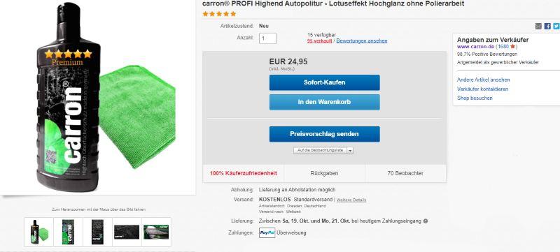 carron Autopolitur auf ebay kaufen