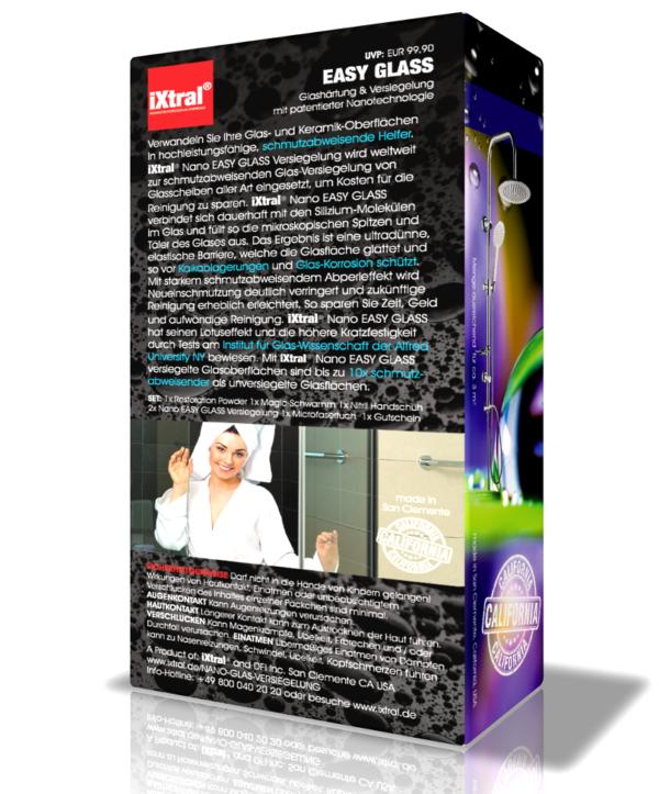 Sehr einfach - iXtral EASY GLASS Nano-Versiegelung - professionelle Glasversiegelung für wasserabweisende Easy-to-Clean-Oberfläche mit Abperleffekt