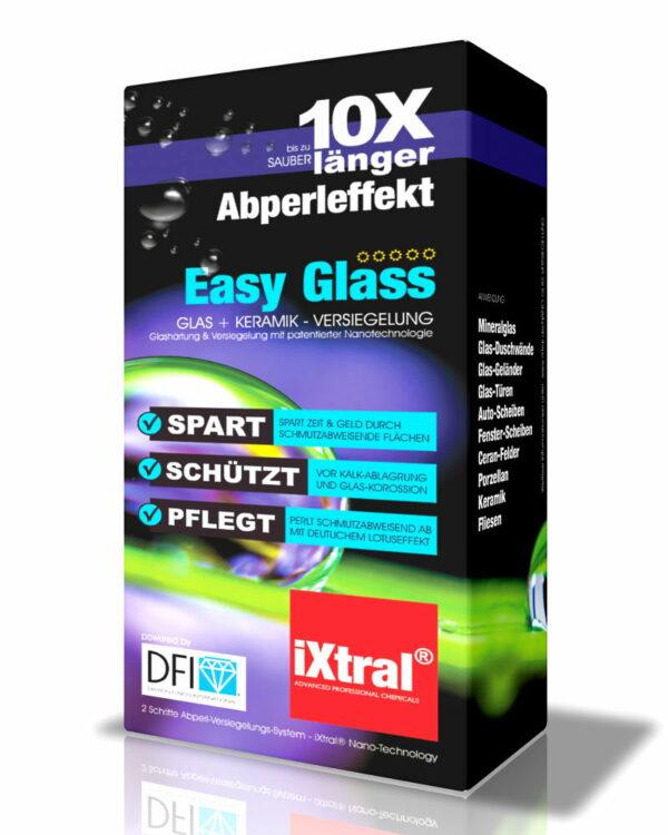 iXtral Easy Glass DFI Nanoversiegelung Glasversiegelung US-Patent für Easy-to-Clean Flächen mit Lotuseffekt für Glas Keramik Porzellan