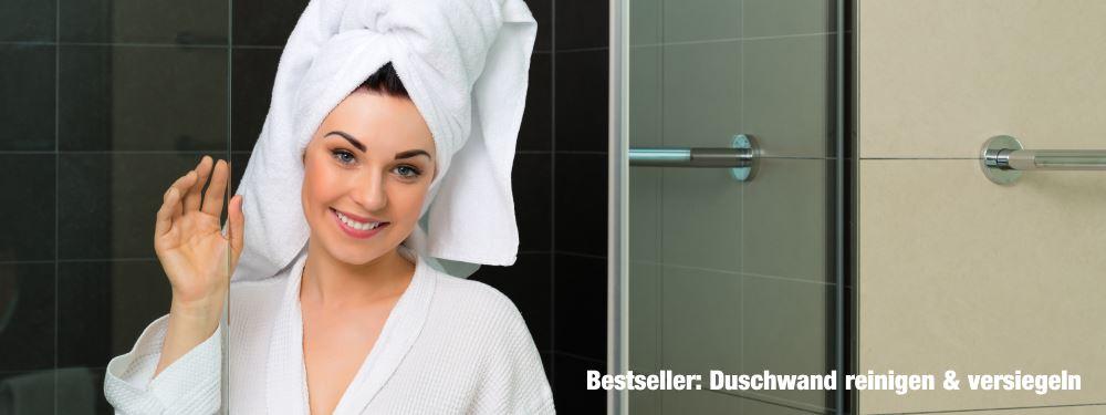 carron Glasversiegelung Duschwand Duschkabine Duschabtrennung Fliesen Bad für Lotuseffekt und Abperleffekt gegen Kalk und Schmutz reinigen