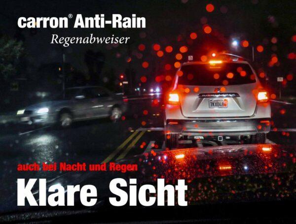 Anti-Rain Regenabweiser für bessere Sicht im Auto besonders bei Regen und bei Nacht