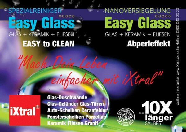 Glasversiegelung Nanoversiegelung Easy-to-Clean Oberflächen mi Lotuseffekt von iXtral