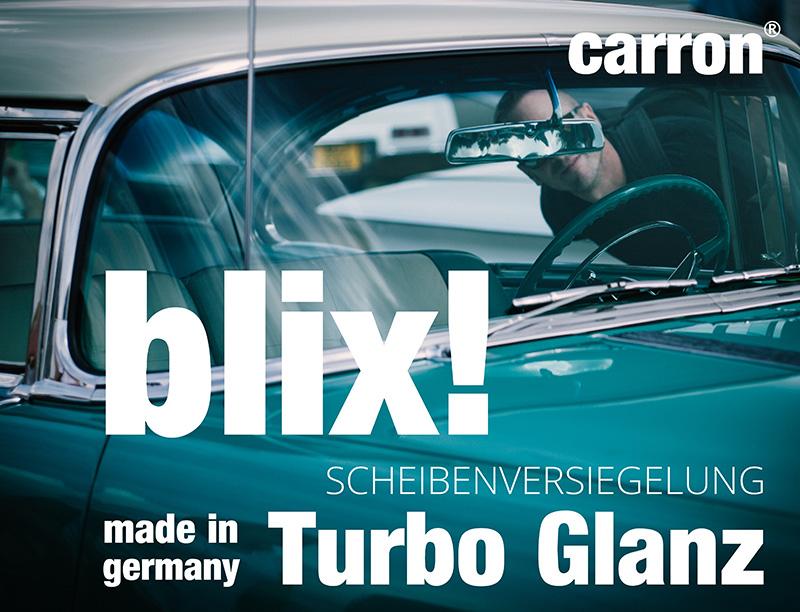 carron blix! Turbo Glanz für Autoscheibe Auto Scheiben Schnell Politur