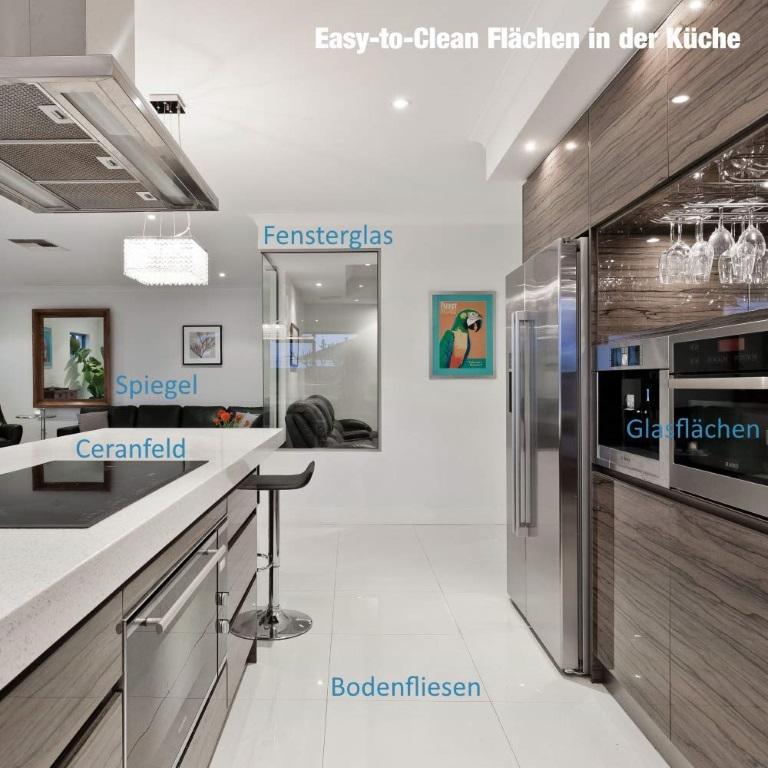Mit fortschrittlichen Easy-to-Clean Oberflächen sparen Sie Reinigungs-Aufwand ein und damit Zeit und Geld