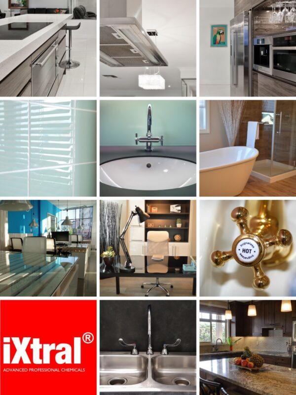 Oberflächen und Anwendungsgebiete von iXtral blix! Hochglanz Versiegelung für Haushalt Küche Bad