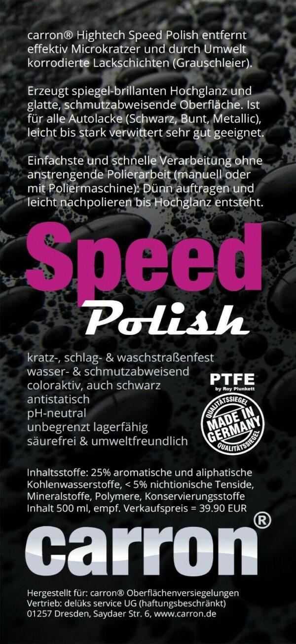 carron Speed Polish - Auto auf Hochglanz polieren mit Schnellpolitur
