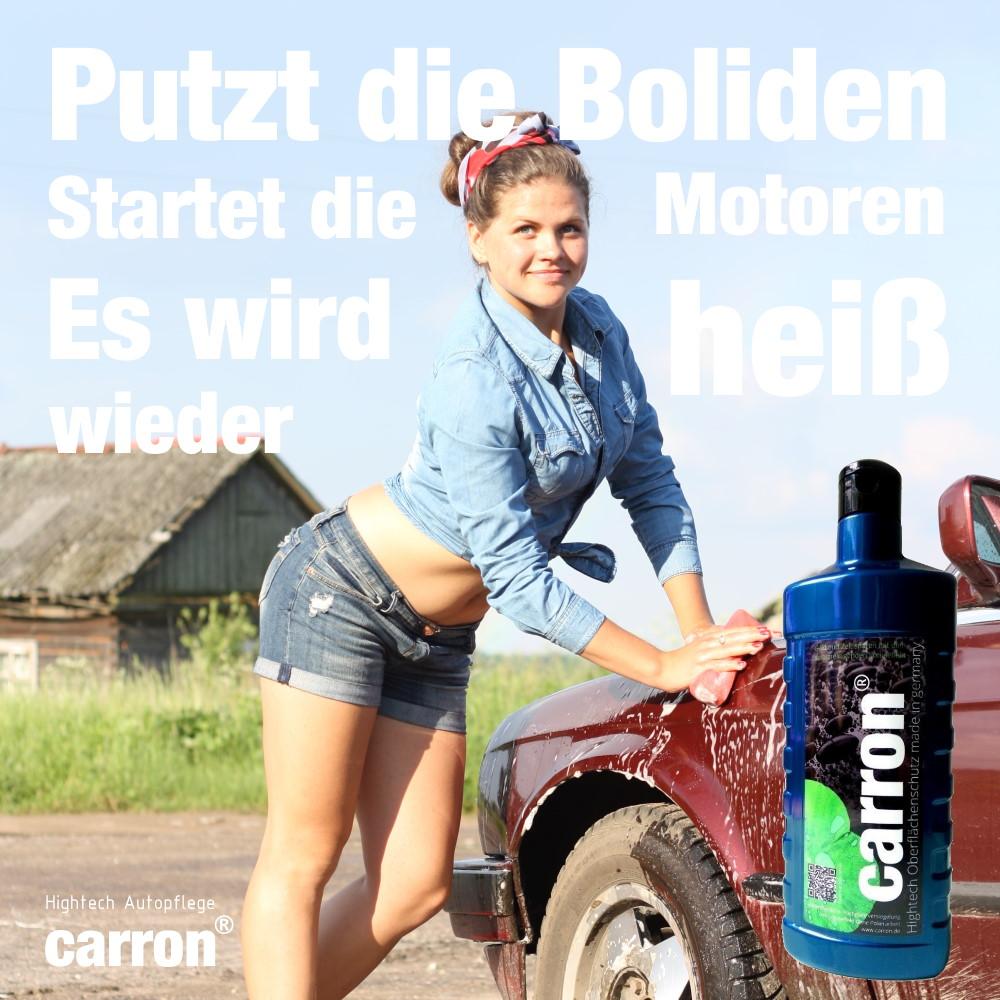 Es wird wieder heiß mit carron® Autopflege