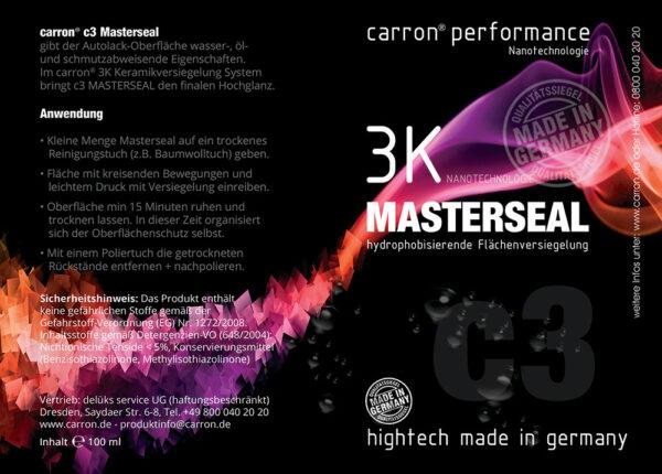 carron® Performance K3 Masterseal Keramikversiegelung Anwendung
